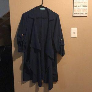 Navy silk jacket